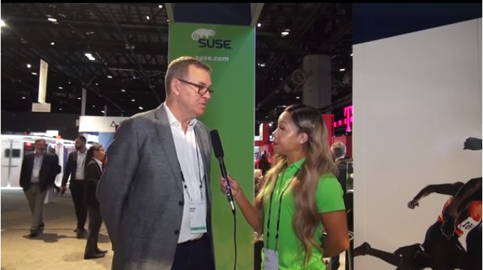 Henry interviewed at the SUSE booth during SAPPHIRE NOW 2019